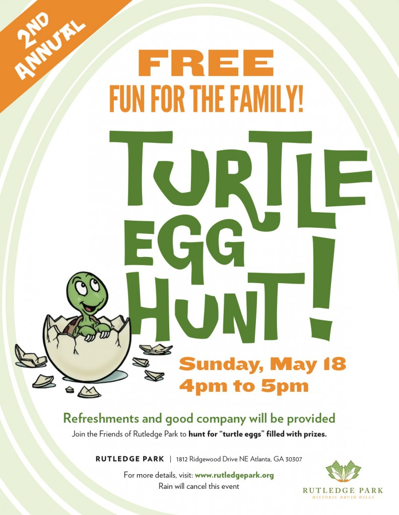 Rutledge Park 2nd Annual Turtle Egg Hunt - Sunday, May 18 from 4pm-5pm